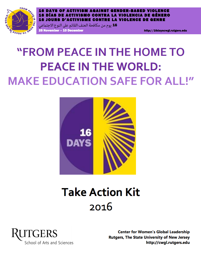 16 Days of Activism against Gender-Based Violence Tool Kit thumbnail