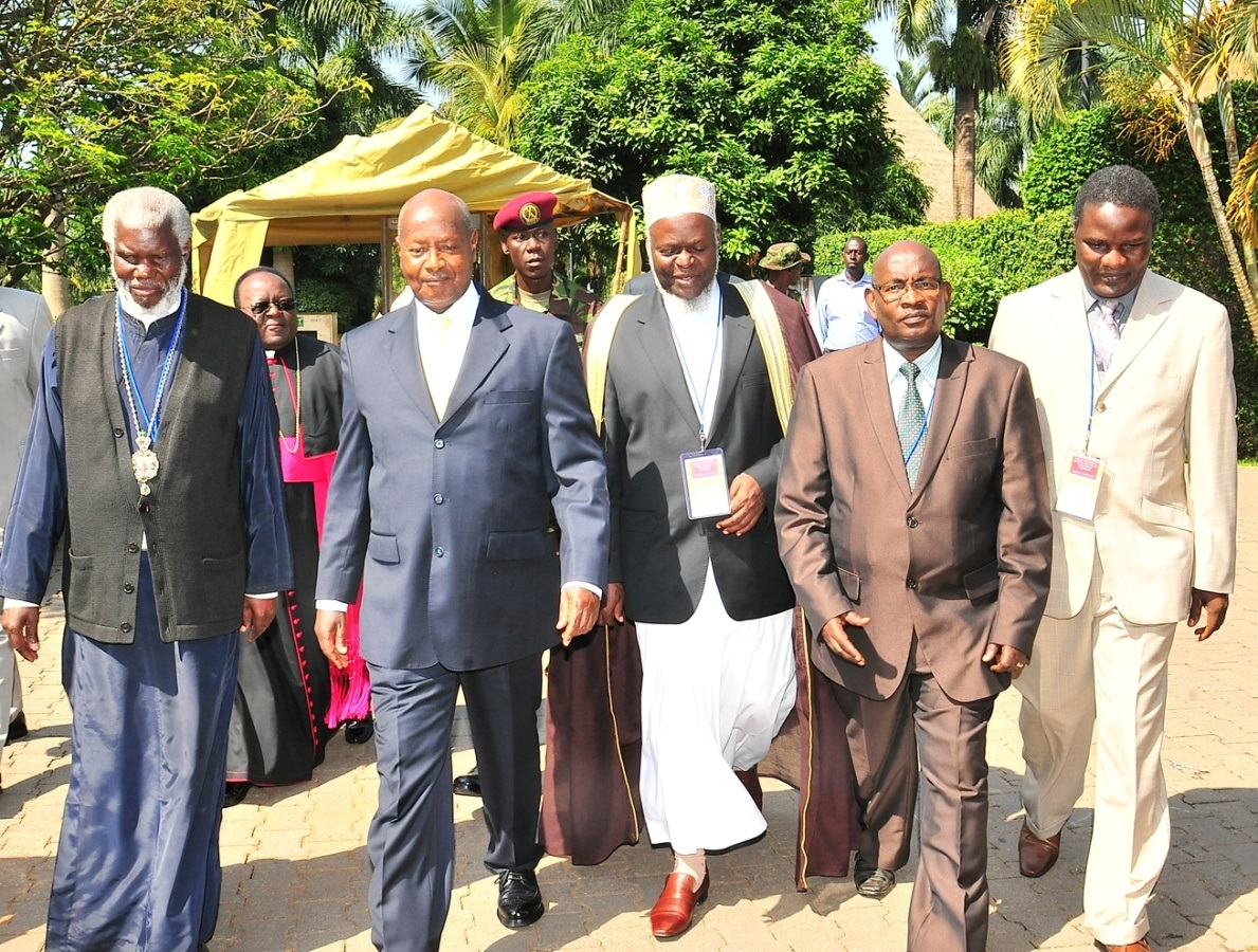 President Yoweri Museveni (Second Left), the Chief Guests, arriving at the summit.