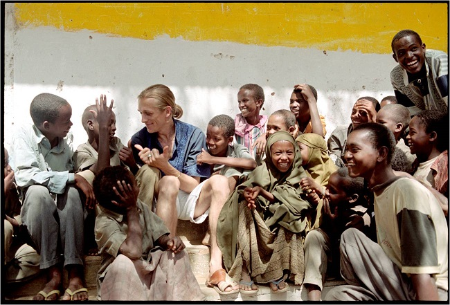 jeremy gilley with children at an orphanage in baidoa somalia
