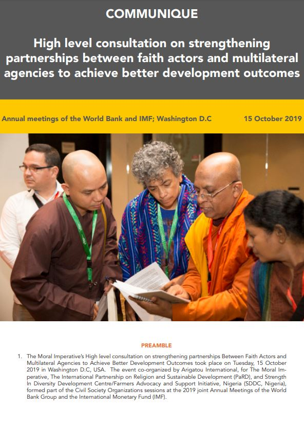 Communique – High level consultation on strengthening partnerships between faith actors and multilateral agencies to achieve better development outcomes thumbnail