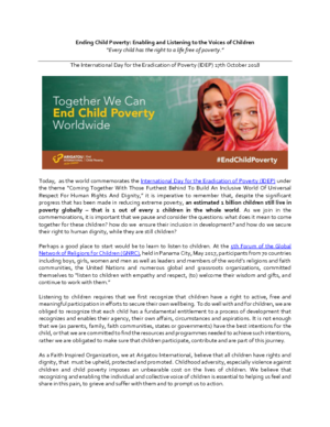 International Day for the Eradication of Poverty - Director\'s Statement thumbnail