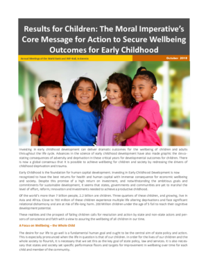 Results for Children: Securing the Well-being Outcomes for Early Childhood thumbnail