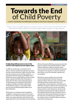 Global Coalition Partners Against Child Poverty -   Joint Statement thumbnail