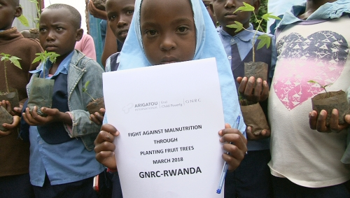 Tree Planting to fight against Malnutrition in Rwanda.